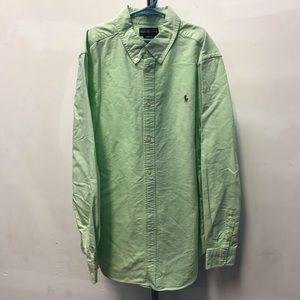 POLO Ralph Lauren Green Cotton Shirt - Size 18